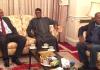 Buhari with Dogara and Saraki
