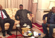 Buhari with Dogara and Saraki