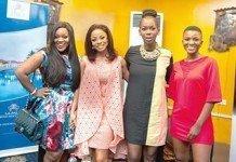 From left, Jackie Appiah; Toke Makinwa; Ama Abebrese and Ahuofe Patri