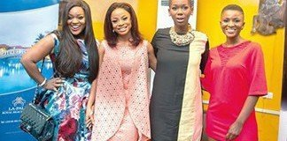 From left, Jackie Appiah; Toke Makinwa; Ama Abebrese and Ahuofe Patri