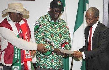Osinbajo and labour leaders