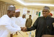 Buhari with Governor Yahaya Bello of Kogi State