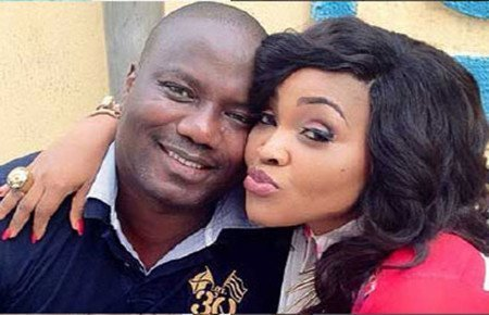 Mercy Aigbe and husband, Gentri