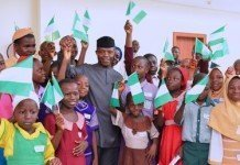 Osinbajo with children