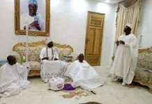 Aare Onakakanfo with Ooni of Ife