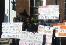 Rivers students protest against Wike