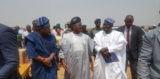 Senator Buhari With Governor Ajimobi and Chief Oke