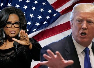 Donald Trump with Oprah Winfrey