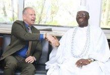 Gani Adams with Germany consular Mr Ingo Herbert
