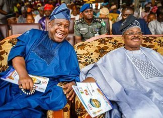 Senator Buhari with Governor Ajimobi