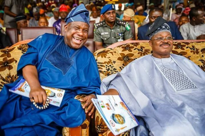 Senator Buhari with Governor Ajimobi