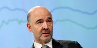 EU Commissioner Moscovici presents the EU executive's economic forecasts in Brussels