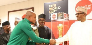 Super Eagles with Buhari