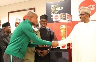 Super Eagles with Buhari
