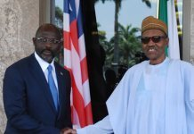 President Buhari with President Weah