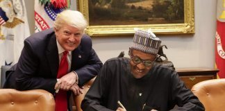 Donald Trump with Muhammadu Buhari