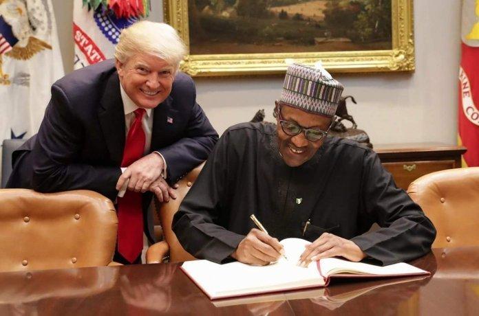 Donald Trump with Muhammadu Buhari