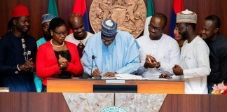 Buhari signing Not Too Young To Run Bill