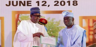 President Buhari and Kola Abiola