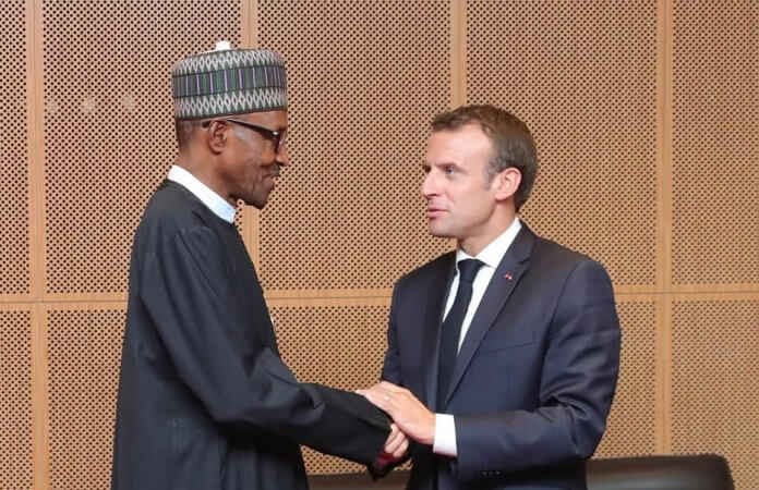 President Macron and Muhammadu Buhari