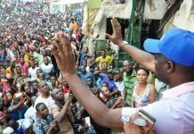 Seyi Makinde at Ayefele Music House Demolition