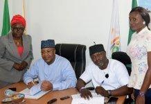 NTDC Boss with Wikimedia Nigeria President