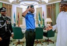 Muhammadu Buhari and IGP Abubakar Adamu Mohammed