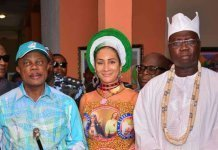 Willie Obiano, Sally Mbanefo and Aare Gani Adams