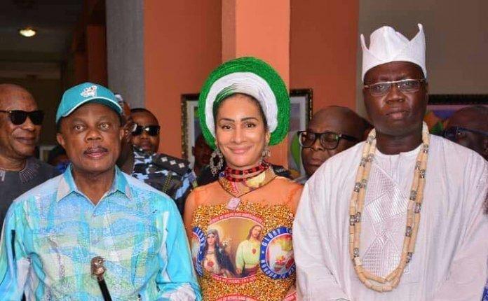 Willie Obiano, Sally Mbanefo and Aare Gani Adams