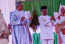 buhari, osinbajo receives certificate of return