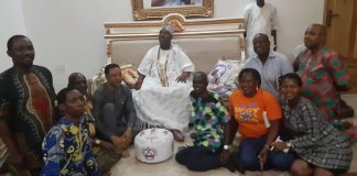 Ooni of Ife with tourism writers