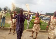 Wale Ojo-Lanre with Ekiti State Cultural Troupe
