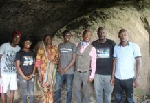 Wale Ojo-Lanre at Esa Rock in Ekiti State