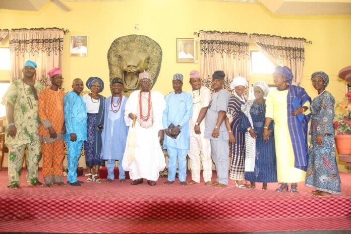 Wale Ojo-Lanre with Ekiti Traditional Rulers