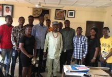 Ojo-Lanre with Ekiti Students