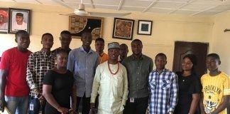 Ojo-Lanre with Ekiti Students