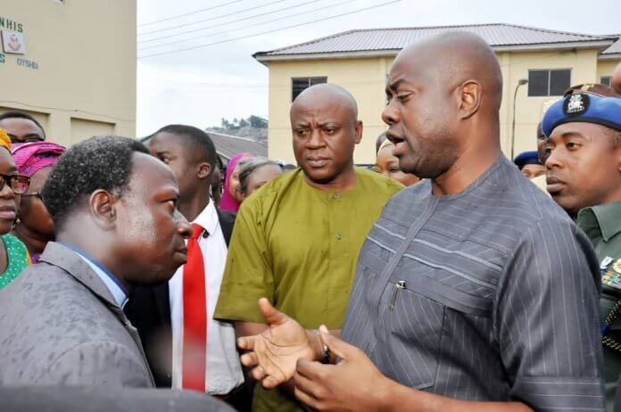 From right; Oyo State Governor, Mr Seyi Makinde, Engr Femi Babalola and Chief Consultant, Adeoyo Maternity Hospital and Dr Soji Adeyanju during the governor inspection to the hospital, Yemetu, Ibadan.
