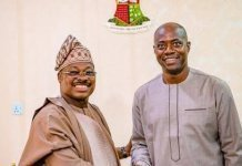 Ajimobi with seyi makinde on missing vehicles