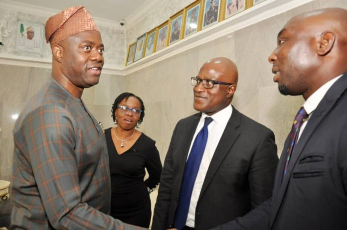 Oyo Governor with FCMB management