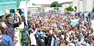 Solidarity rallly for makinde