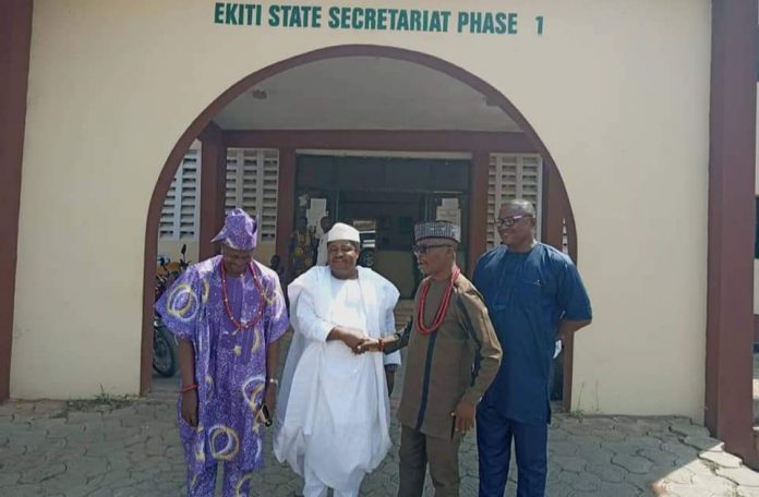 Wale Ojo-Lanre welcoming Pro Bakare appointed by Fayemi