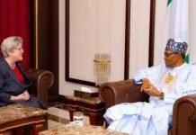 Buhari with Mary Beth Leonard on Nigeria