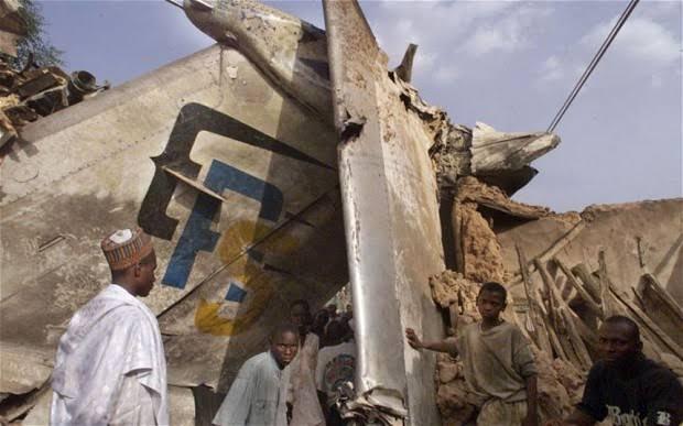 First plane crash in Africa