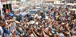 Makinde acklowledging crowd