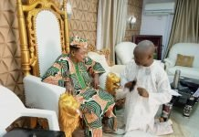 Wale Ojo-Lanre with Alaafin of Oyo