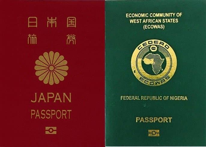 japan passport vs nigerian passport