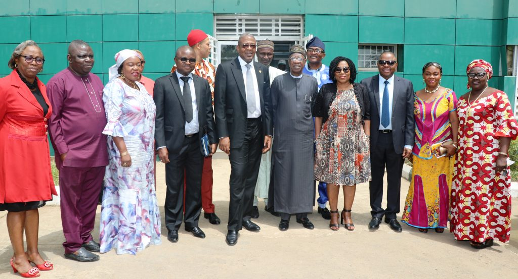Folorunsho Coker and Minister of information and Culture, Lai Mohammed