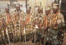 Yoruba Obas in Amotekun regalia