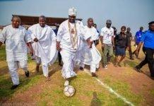 Ooni Of Ife Flaunts Football Skills During Ojaja 2