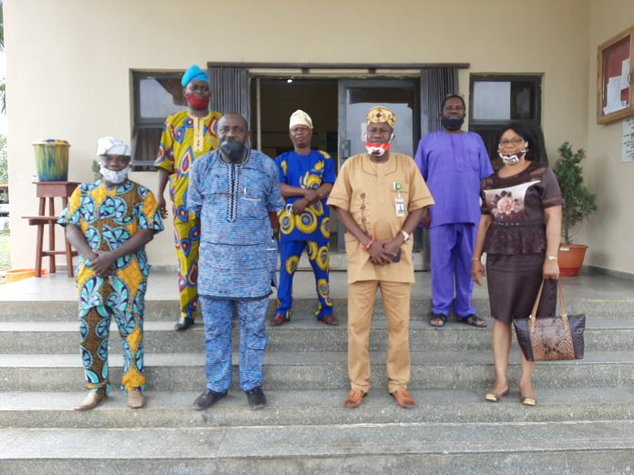 Akeem Ademola Ige with Hoteliers in Oyo State